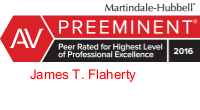 Attorney James Flaherty AV Preeminent rating on Martindale.com
